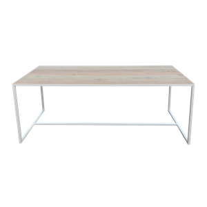 Table Oak blanc/chêne 200x80x75cm