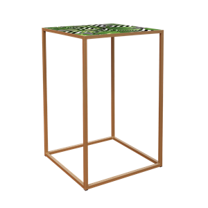 Socle ouvert or plq jungle 70x70x110