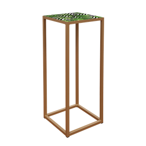 Socle ouvert or plq jungle 40x40x100