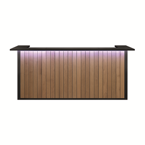 Modus Bar - 3m60 Eik - Zwart Top