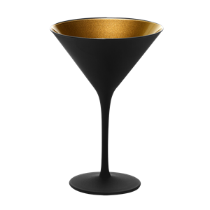 Cocktailglas zwart/goud 15cl