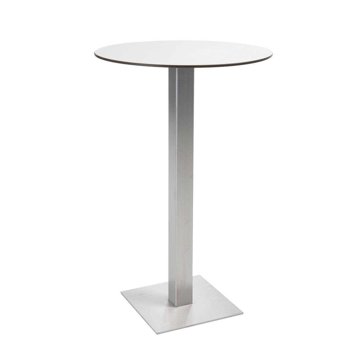 table mange debout inox blanc ronde femat pour ma f te je suis par. Black Bedroom Furniture Sets. Home Design Ideas